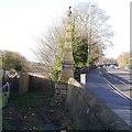 SE2536 : Kirkstall Forge Milepost (2), Abbey Road, Kirkstall, Leeds by Rich Tea