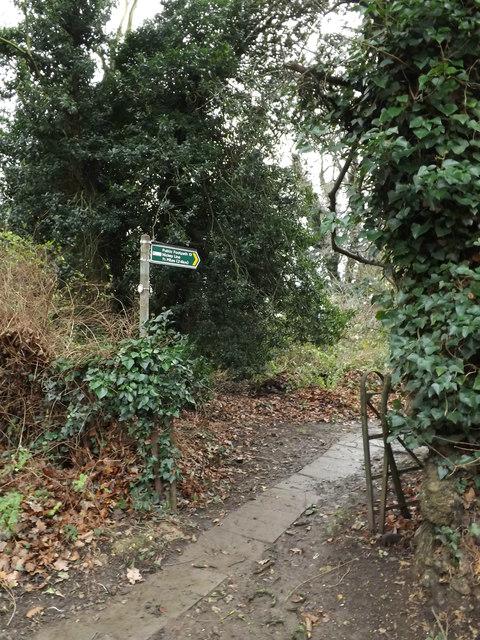Footpath to the Nickey Line