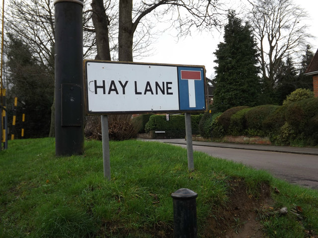 Hay Lane sign