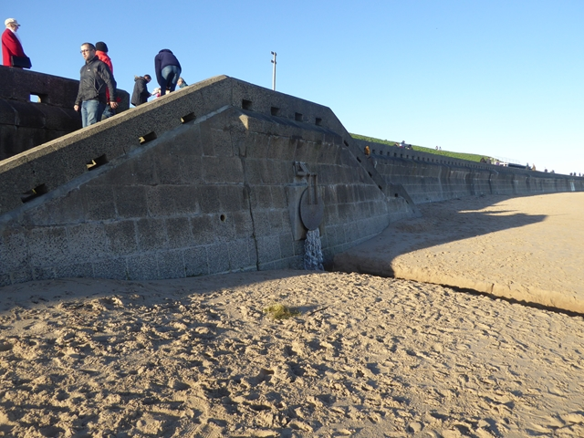 Outfall on Whitley Sands