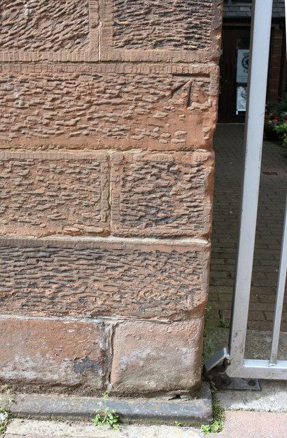 Benchmark on Church, Chapel Street