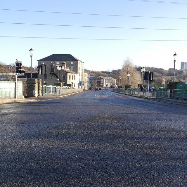 Kirkstall Bridge, open after floods