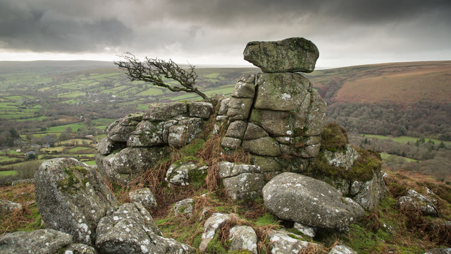 Rock outcrop on Chinkwell Tor