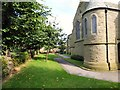 SJ9495 : Flowery Field churchyard by Gerald England