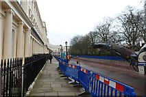 TQ2882 : Resurfacing Park Square East by DS Pugh