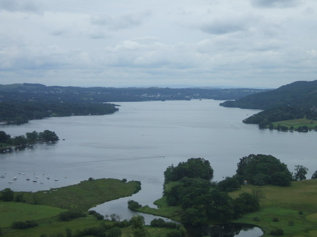 Lake Windermere viewed from near Ambleside, Cumbria