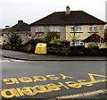 ST3090 : Yellows on a Graig Park corner, Malpas, Newport by Jaggery