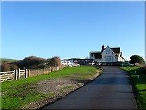TQ3303 : Clubhouse, East Brighton Golf Club by Simon Carey