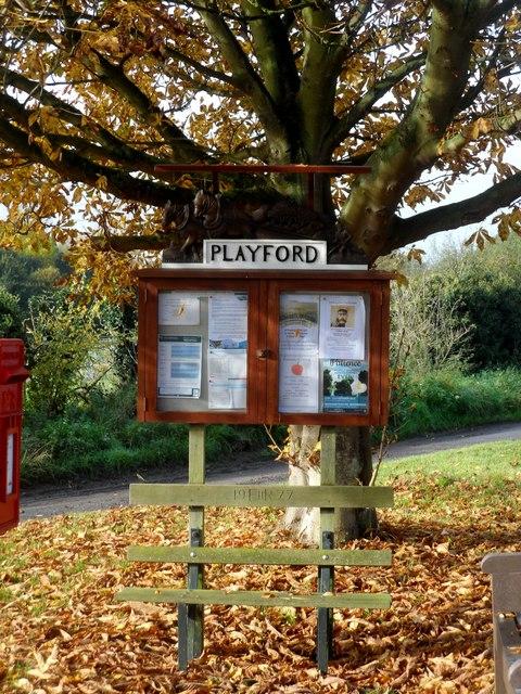 Playford, notice board