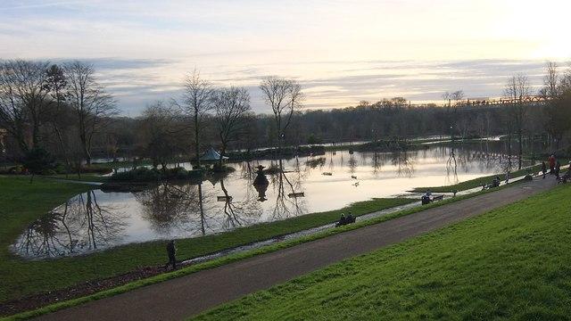 Flooding in Miller Park, Preston