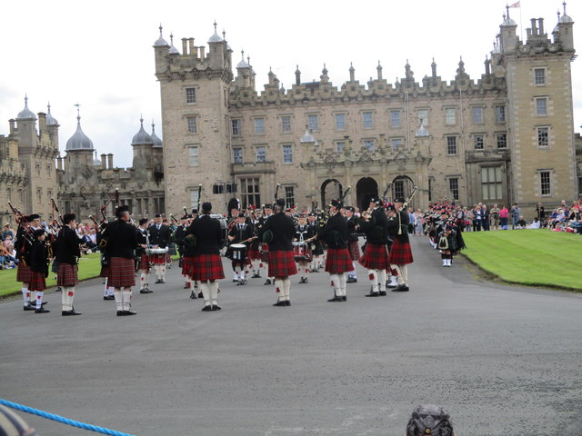 Pipes and Drums at Floors Castle Kelso