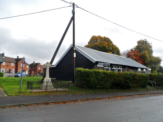 War memorial and Village Hall