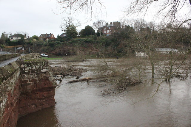 The Flooded Dee at Holt