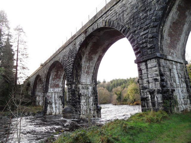Railway Bridge over the Avonmore River Near Rathdrum, Co. Wicklow
