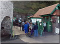 SS7249 : Queueing for the Cliff Railway, Lynmouth by Jaggery