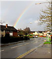 ST2990 : Rainbow over Bettws, Newport by Jaggery
