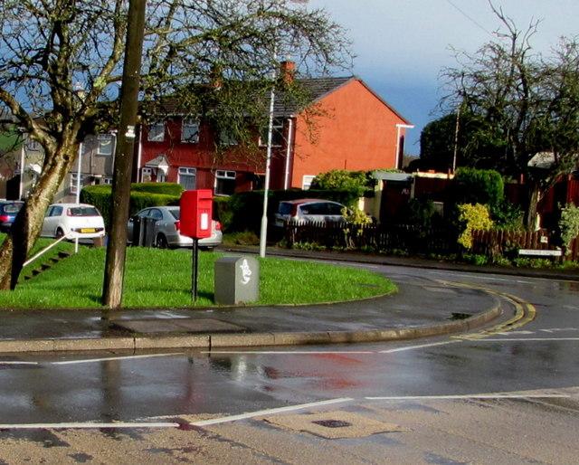 Postbox on a Malpas corner, Newport