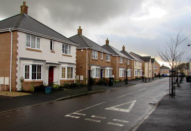 Detached houses, Heol Senni, Bettws, Newport