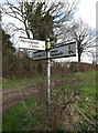 TM3687 : Roadsign on Low Road by Geographer