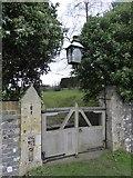 SU5073 : St Bartholomew, Oare: church gate by Basher Eyre