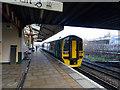 SJ3250 : A Holyhead bound train at Wrexham General station by John Lucas