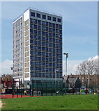 TQ2976 : Euro Tower, Courland Grove by Stephen Richards