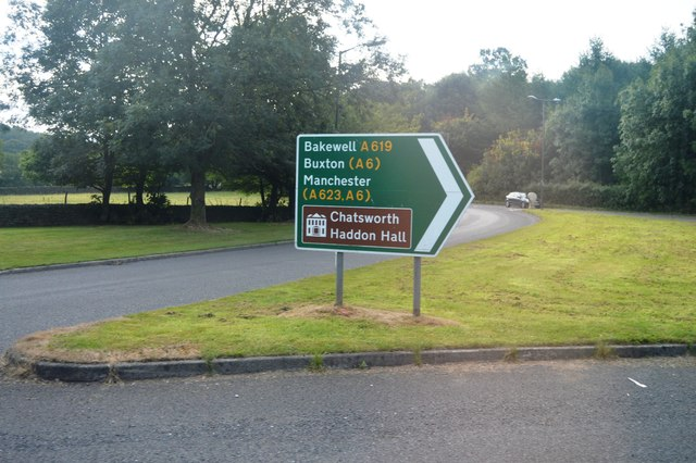 Roadsign on the roundabout