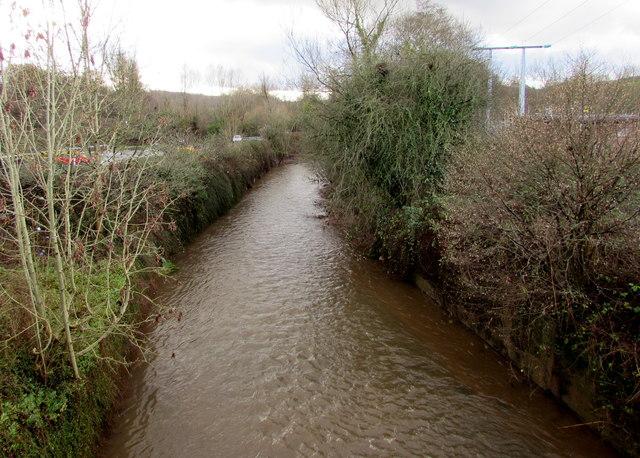 Malpas Brook south of Bettws Lane, Bettws, Newport