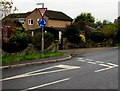 SO8006 : Give way and mini-roundabout signs, Gloucester Road, Stonehouse by Jaggery