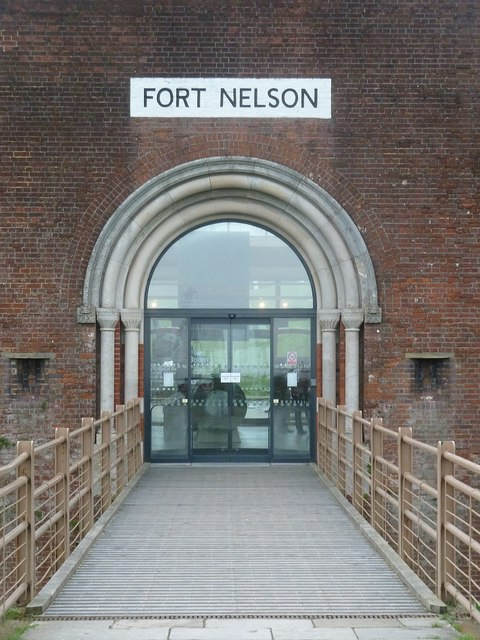 Fort Nelson - footbridge to main entrance