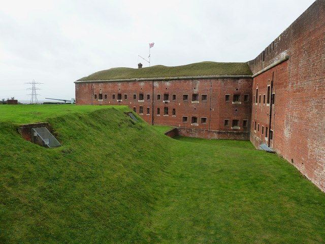 Fort Nelson - Ditch and southern aspect