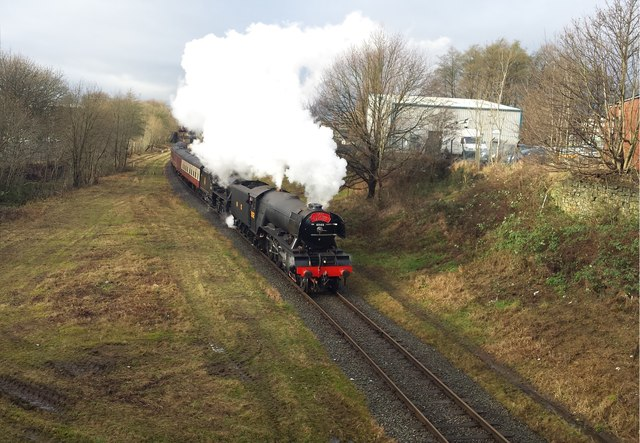 Flying Scotsman passes through Bury