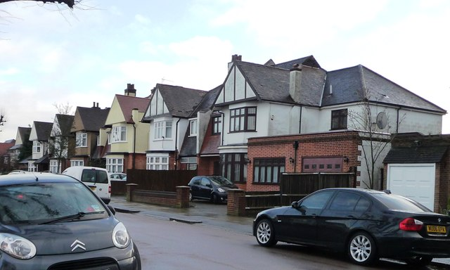 Much-extended house, Chandos Avenue, Whetstone