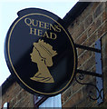 NZ2226 : Sign for the Queens Head public house, Shildon by JThomas