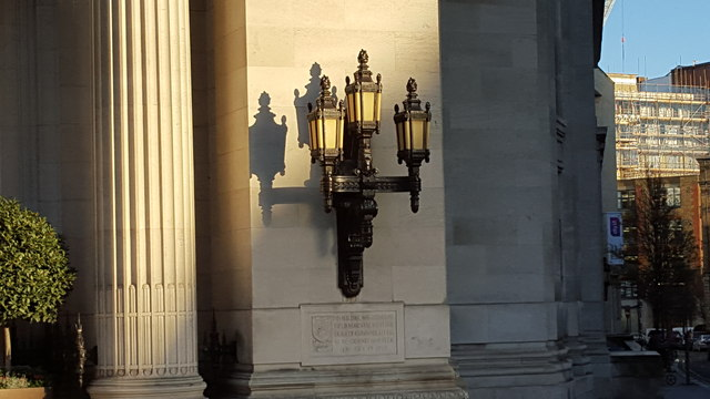 Lamp Shadows, United Grand Lodge of England, Great Queen Street, London WC1