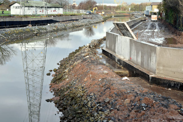 Connswater path works, Belfast - January 2016(1)
