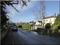 SO7937 : Church Road, Castlemorton and the vicarage by David Smith