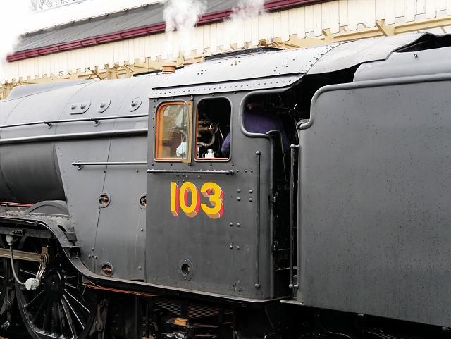 Flying Scotsman (103) Return to Steam 2016