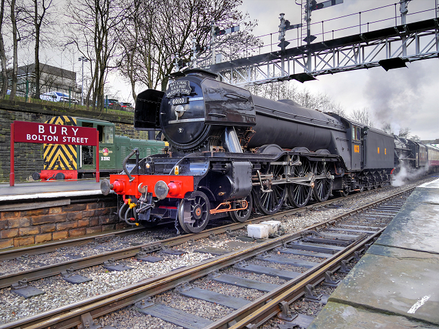 Flying Scotsman in Wartime Livery, Bury Bolton Street Station