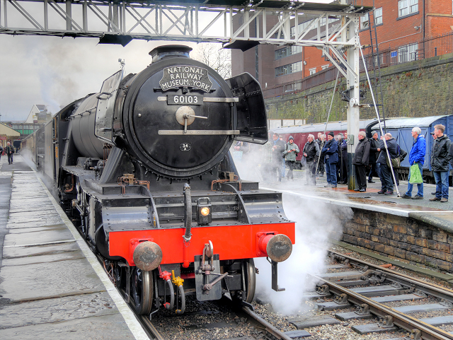 Flying Scotsman Test Running at Bolton Street Station January 2016