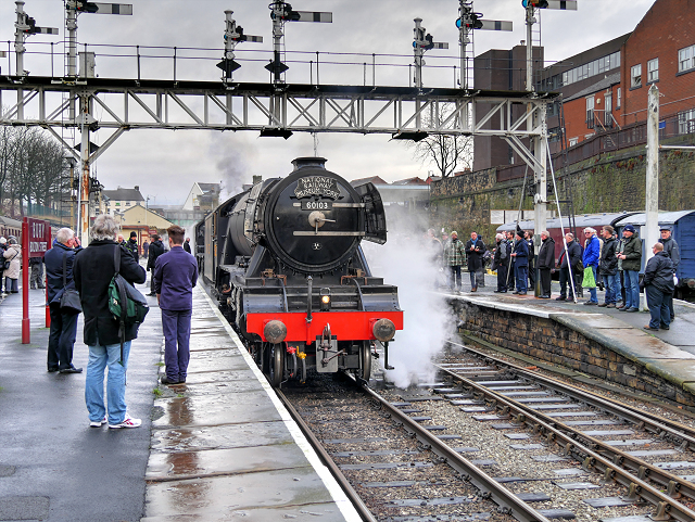 Flying Scotsman Test Running at Bury - January 2016
