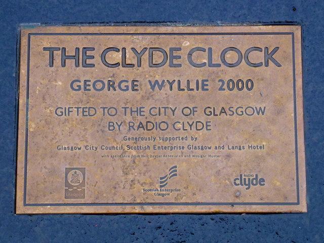 The Clyde Clock Plaque