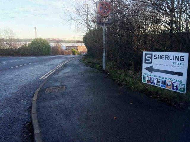 Industrial estate entrance off Engine Lane