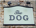 NZ2321 : Sign for the Dog public house by JThomas
