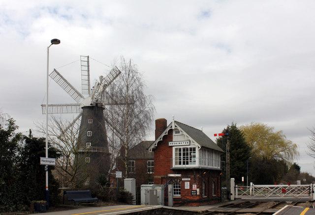 Heckington Windmill and Station, Hale Road, Heckington
