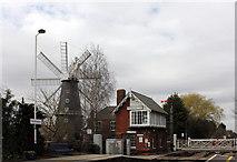 TF1443 : Heckington Windmill and Station, Hale Road, Heckington by Jo Turner