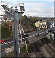 SS9581 : CCTV cameras observing Hendre Road level crossing, Pencoed by Jaggery