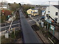 SS9581 : First Great Western train speeds through Hendre Road level crossing, Pencoed by Jaggery