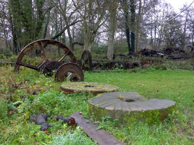 Howsham Mill - discarded machinery