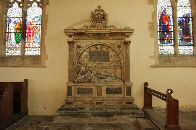 Lady Bridget Carre monument